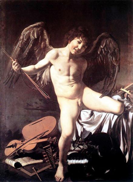 Amor Zwycięski (Amor vincit omnia), Caravaggio, Gemäldegalerie, Berlin, zdj. Wikipedia
