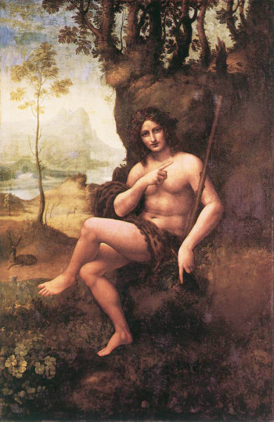 Bachus (Jan Chrzciciel), Leonardo da Vinci, zdj. Wikipedia