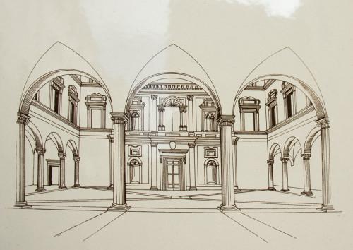 Dziedziniec Palazzo di Firenze