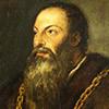 Portret Pietra Aretina, fragment, Tycjan, The Frick Collection, New York, zdj. Wikipedia