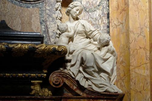 Nagrobek Camilli i Giambattisty Rospigliosi-Pallavicini, alegoria Miłosierdzia, kościół San Francesco a Ripa