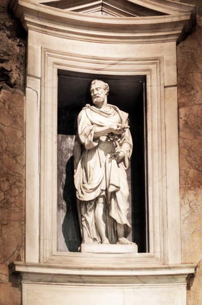 Daniele da Volterra, Posąg św. Piotra, kaplica Ricci, kościół San Pietro in Montorio