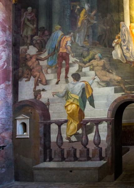 Daniele da Volterra, Prezentacja Marii w Świątyni, kaplica della Rovere, kościół Santa Trinità dei Monti