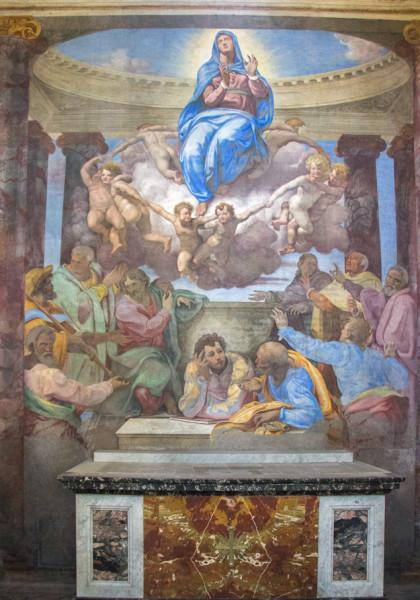 Daniele da Volterra, Wniebowzięcie Marii, kaplica della Rovere, kościół Santa Trinità dei Monti