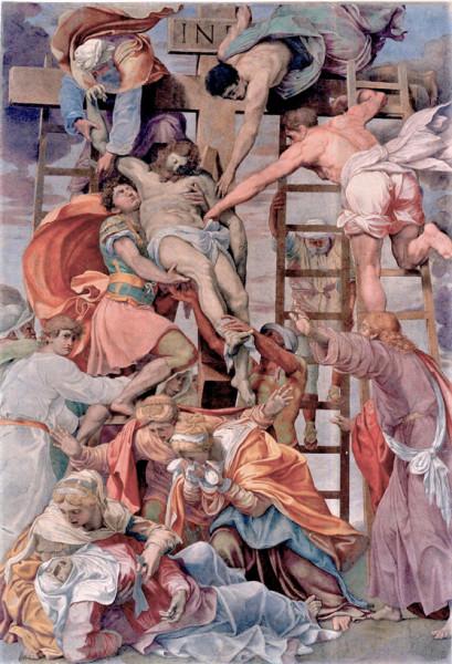 Daniele da Volterra, Zdjęcie z krzyża, kaplica Bonfil, kościół Santa Trinità dei Monti