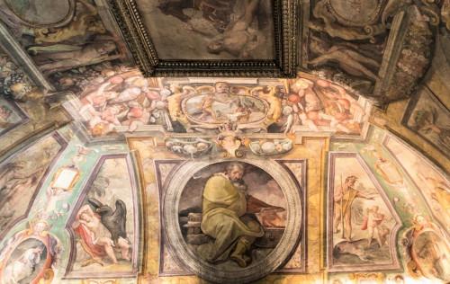 Studiolo (Sala delle Stagioni), allegory of winter Zimy, Jacopo Zucchi, Palazzo Firenze