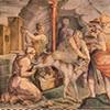 Palazzo di Firenze, the so-called Loggia del Primaticcio, decorations - Prospero Fontana