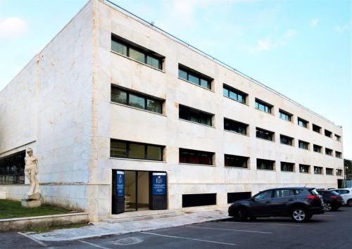 Accademia della Scherma, tylna strona budynku, Luigi Moretti, Foro Italico
