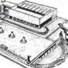 Foro Italico, Casa delle Armi, plan budowli z lat 30-tych, Luigi Moretti,