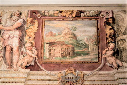 Willa Giulia, casino - piano nobile, Sala Siedmiu Wzgórz (Koloseum)