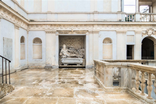 Willa Giulia, nimfeum - fontanna z posągiem boga Tybru