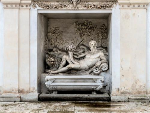Willa Giulia, nimfeum - posąg bóstwa rzeki Arno