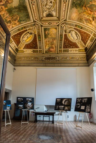 Willa Giulia, widok westybulu budynku głównego (casina)