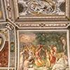 Willa Giulia, freski w westybulu budynku głównego
