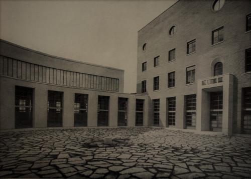 Dziedziniec Instytutu Matematyki, kompleks uniwersytecki La Sapienza, Architettura (numero speziale), 1935