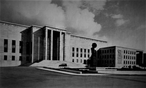 Fasada Rektoratu w kompleksie uniwersyteckim La Sapienza, Architettura (numero speziale), 1935