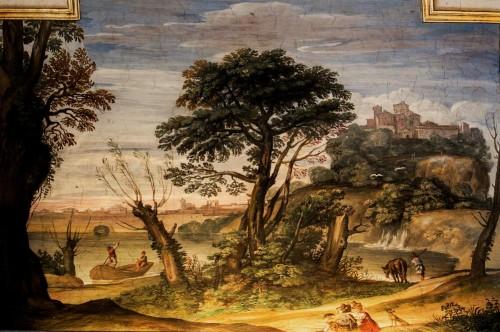 Domenichino, Casino Ludovisi, Stanza del Caminetto, malowidło stropu, fragment