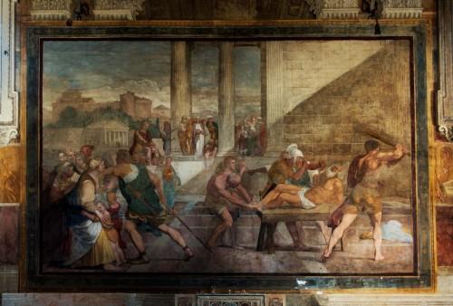 Domenichino, Chłosta św. Andrzeja, oratorium Sant'Andrea