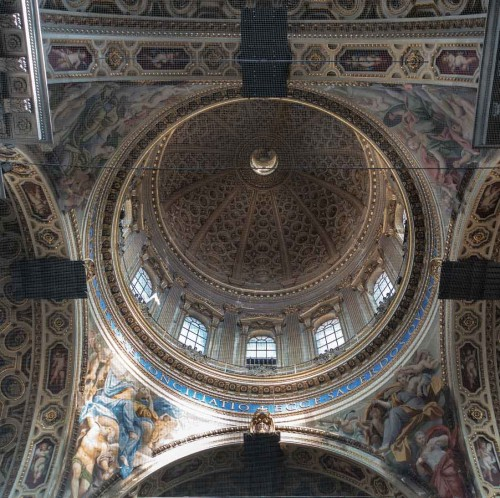 Domenichino, paintings in the pendentives of the dome (covered with a netting), Church of San Carlo ai Catinari