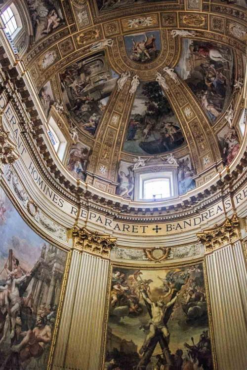 Domenichino, malowidła w zwieńczeniu absydy, bazylika Sant'Andrea della Valle