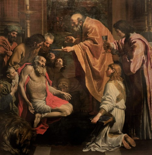 Domenichino, The Last Communion of St. Jerome, fragment, Musei Vaticani – Pinacoteca Vaticana