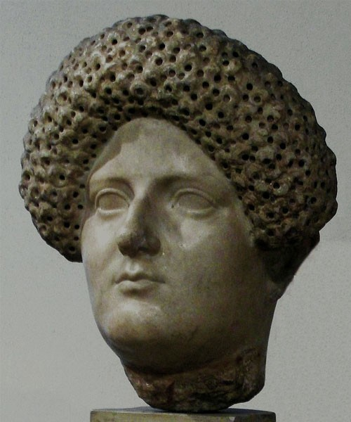 Portrait of Domitia, the wife of Emperor Domitian, National Museum in Warsaw, pic. Wikipedia