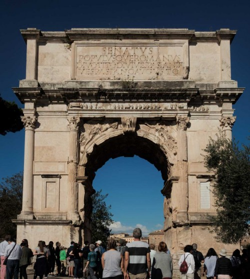 The Arch of Titus on Forum Romanum