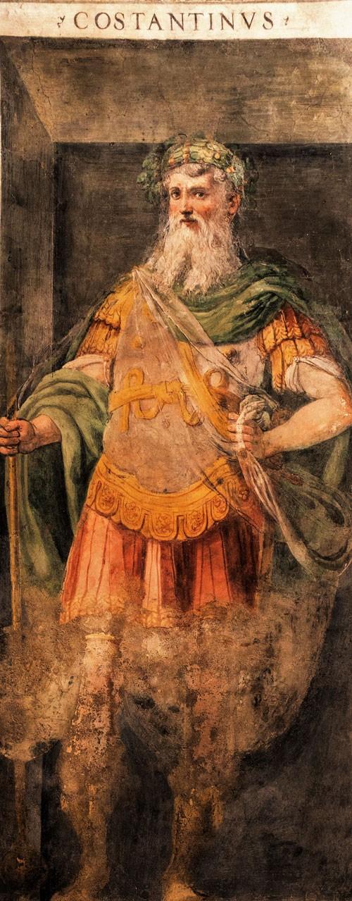Cesarz Konstantyn Wielki, XVI w., oratorium San Silvestro przy bazylice Santi Quattro Coronati