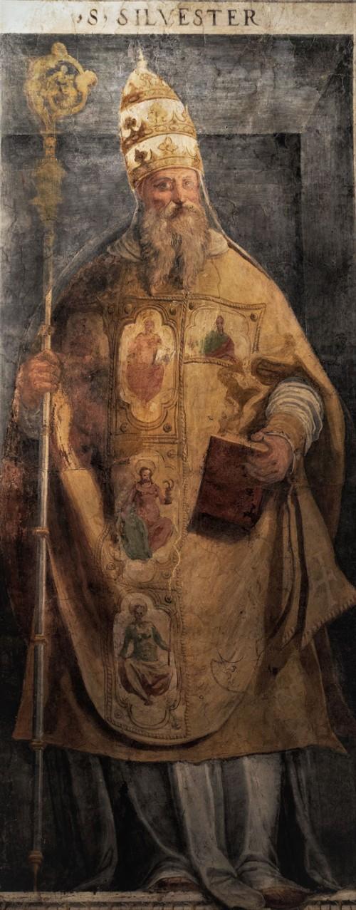 Papież Sylwester I, XVI w., oratorium San Silvestro przy bazylice Santi Quattro Coronati