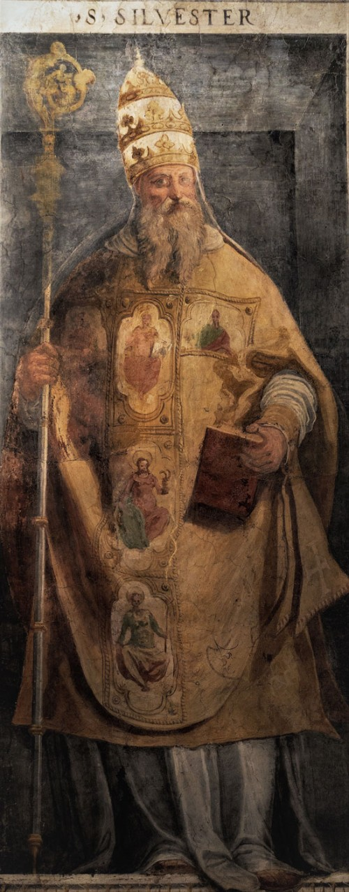 Pope Sylvester I, XVI century, San Silvestro Oratory at the Basilica of Santi Quattro Coronati