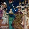 Giving the imperial frigium to the pope, San Silvestro Oratory, Basilica of Santi Quattro Coronati