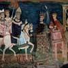 San Silvestro Oratory, the pope entering Rome and Constantine granting temporal sovereignty over to him, Basilica of Santi Quattro Coronati