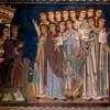 Scene depicting Emperor Constantine the Great battling an illness, San Silvestro Oratory at the Basilica of Santi Quattro Coronati