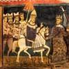 Wprowadzenie papieża do Rzymu i przekazanie mu  miasta we władanie, oratorium San Silvestro przy bazylice Santi Quattro Coronati