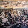 Bitwa przy moście Mulwijskim,  po 1520 r., fragment, Giulio Romano, Sala Konstantyna,  Musei Vaticani