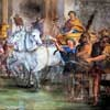 Triumphant Entry of Constantine into Rome after Victory over Maxentius, Andrea Camassei, XVII century, San Giovanni Baptistery