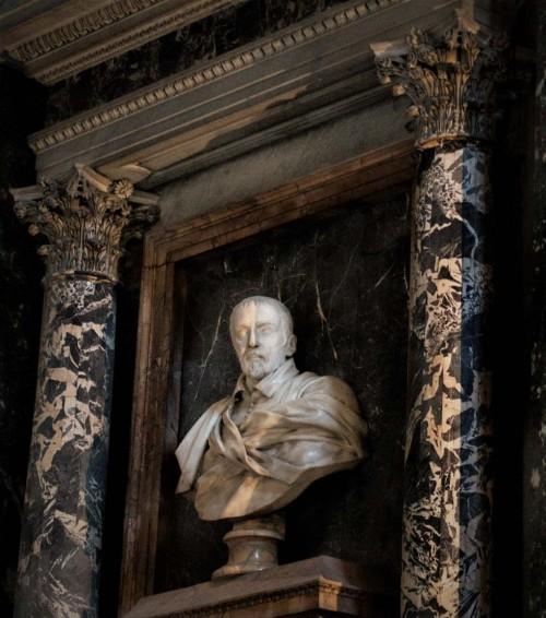 Cosimo Fancelli, nagrobny portret Lorenzo Altieriego, kaplica Altieri, bazylika Santa Maria sopra Minerva