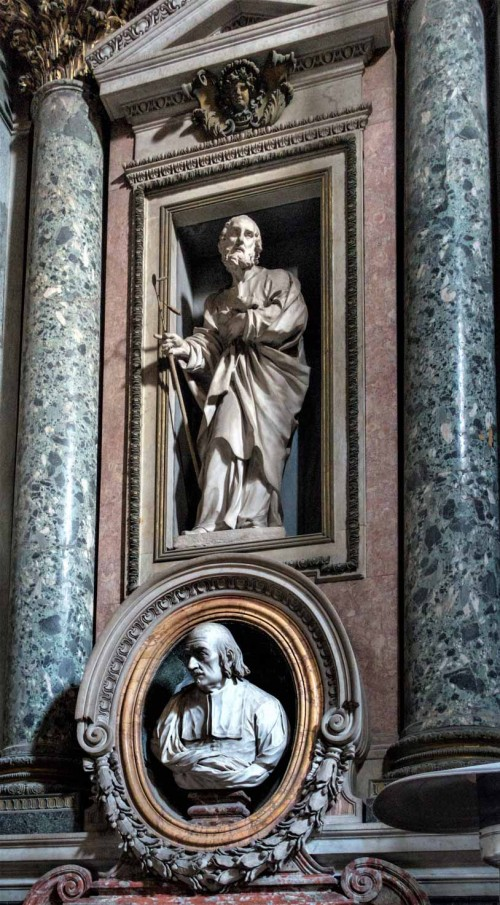 Ercole Ferrata, figure of St. Joseph, Gavotti Chapel, Church of San Nicola da Tolentino