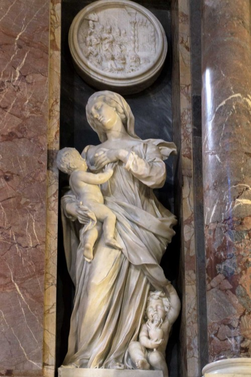 Ercole Ferrata, tombstone of Pope Clement IX, allegory of Charity (Caritas), Basilica of Santa Maria Maggiore