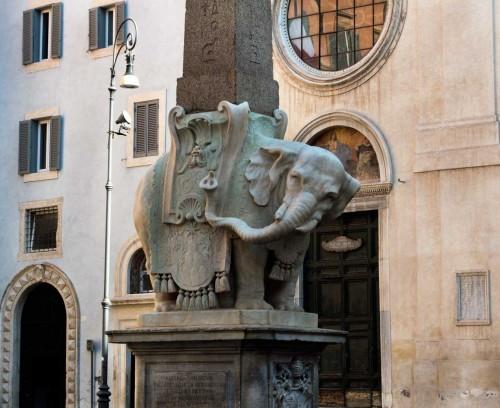 Ercole Ferrata, Minerveo obelisk in front of Basilica of Santa Maria sopra Minerva