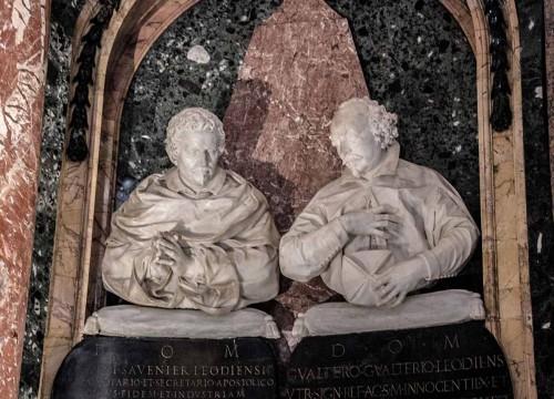 Ercole Ferrata, monument of cardinal de Sluse (on the right), Church of Santa Maria dell'Anima