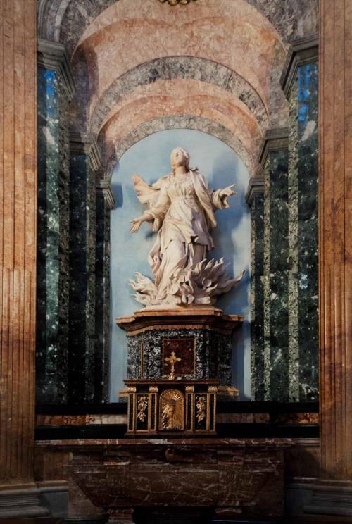 Ercole Ferrata, statue of St. Agnes, Church of Sant'Agnese in Agone