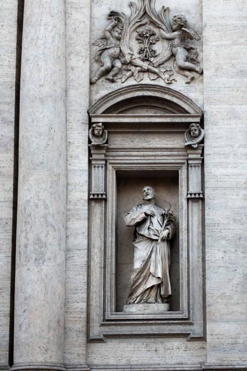 Ercole Ferrata, statue of St. Andrew d'Avellino, façade of the Basilica of Sant'Andrea della Valle