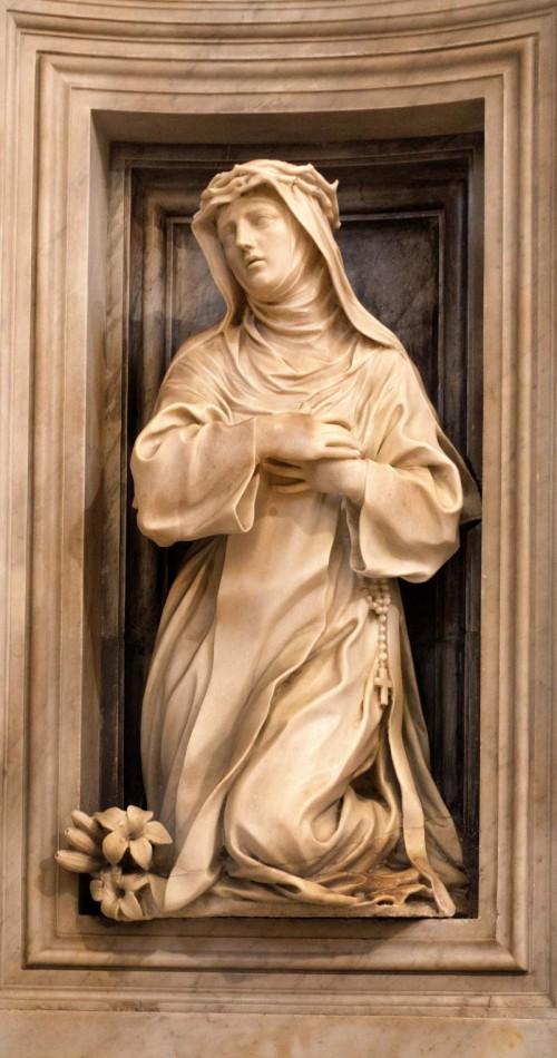 Ercole Ferrata, statue of St. Catherine of Siena, Chigi Chapel, Church of Santa Maria della Pace