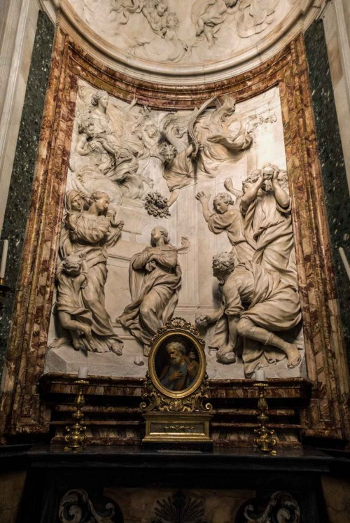 Ercole Ferrata, The Death of St. Emerentiana, side altar in the Church of Sant'Agnese in Agone