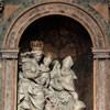 Ercole Ferrata and Dominico Guidi, Vision of St. Nicholas of Tolentino, main altar of the Church of San Nicola da Tolentino