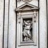 Ercole Ferrata, posąg św. Andrzeja,  fasada bazyliki Sant'Andrea della Valle