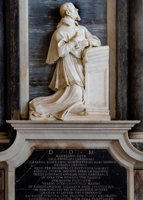 Giuliano Finelli,  nagrobek kardynała Adriano Cevy, baptysterium San Giovanni, kaplica śś. Wenancjusza i Domniusa