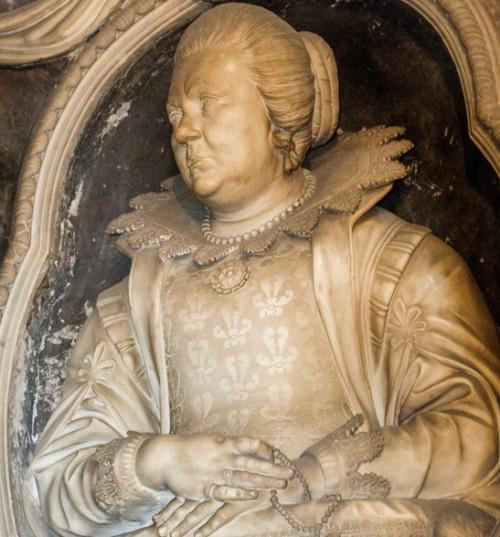Giuliano Finelli, tombstone of Virginia Bonanni, fragment, Church of Santa Caterina da Siena a Magnanapoli