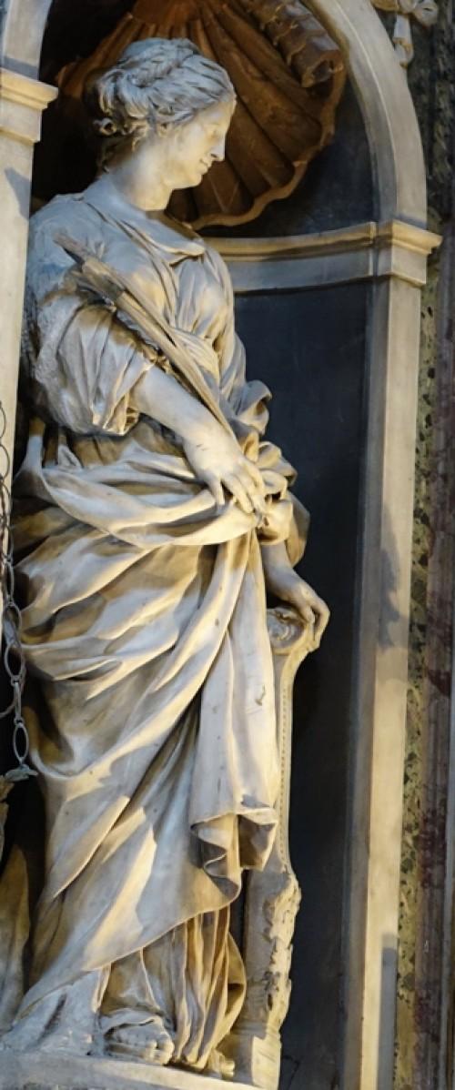 Giuliano Finelli, St. Cecilia, presbytery of the Church of Santa Maria di Loreto